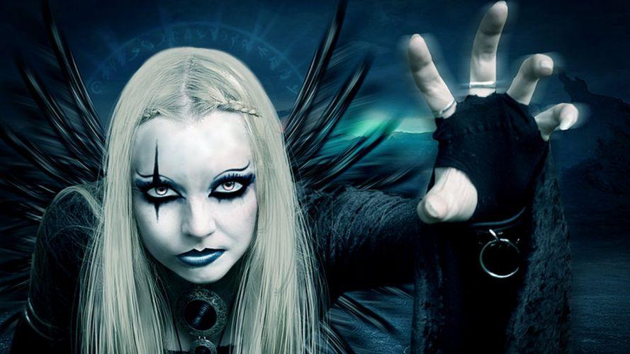 glove black chains witch evil goth wallpaper