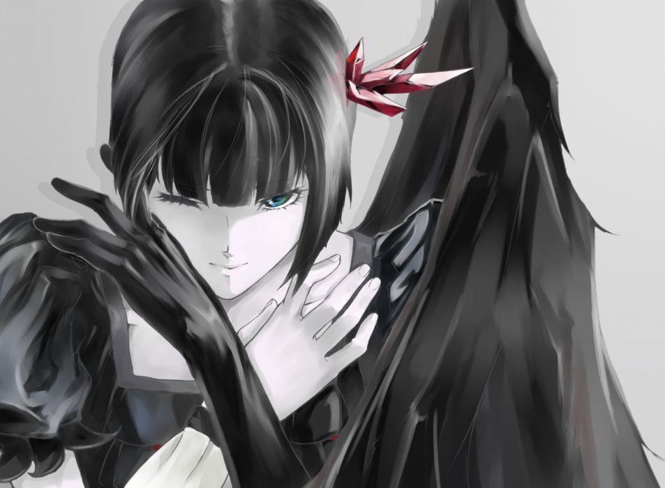 Art yamaishi108 heartcatch precure! precure dark precure monochrome girl wings crystal  f wallpaper