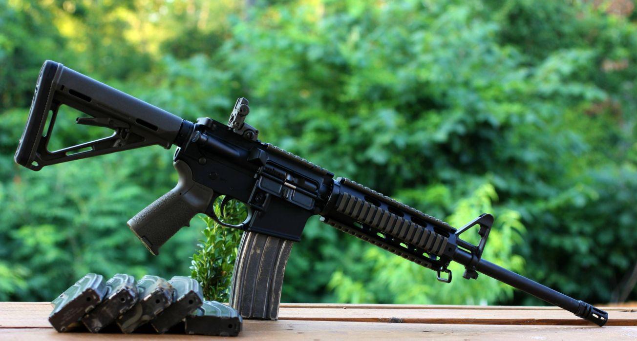 assault rifle AR-15 weapon gun wallpaper