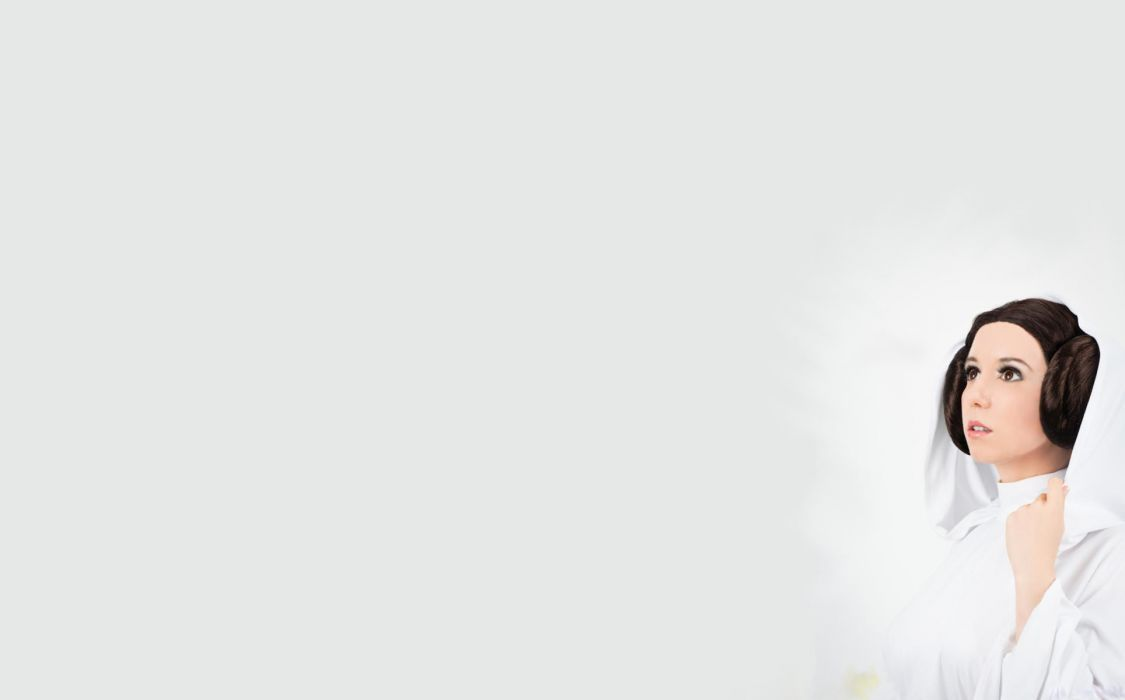 Cosplay Brunette Princess Leia Gray Grey star wars wallpaper