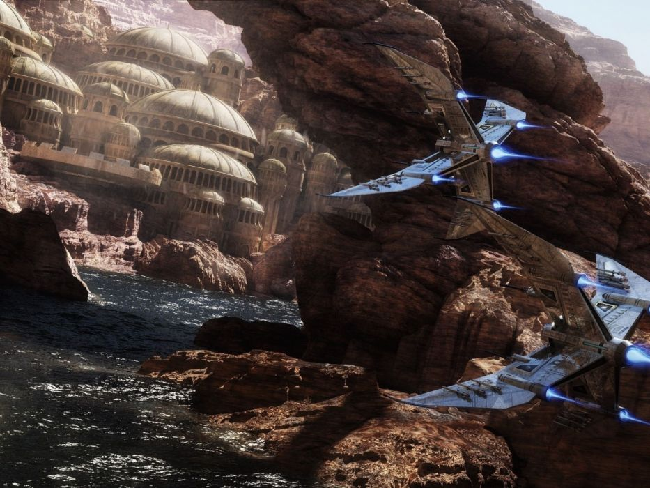 futuristic fantasy art spaceships Abstract Fantasy wallpaper