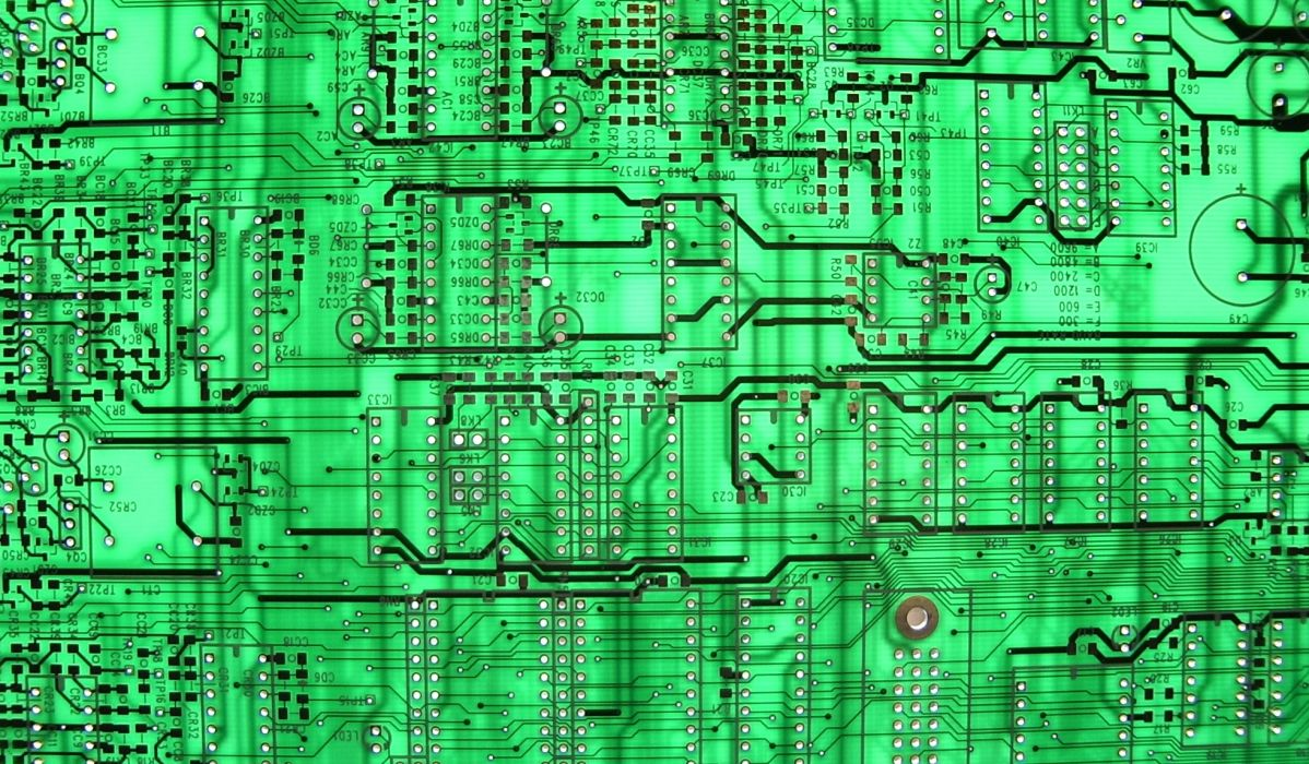 78 Circuit Board Wallpaper Surface Design Over Green Background Vector Illustration