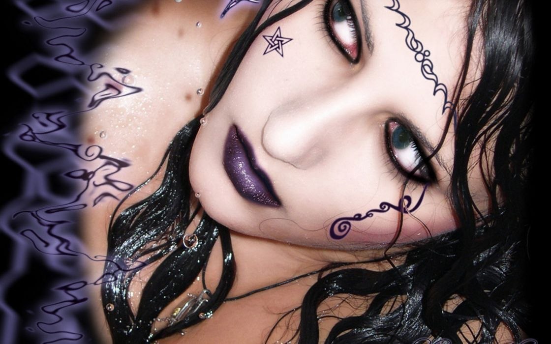 hair black goth girl wallpaper