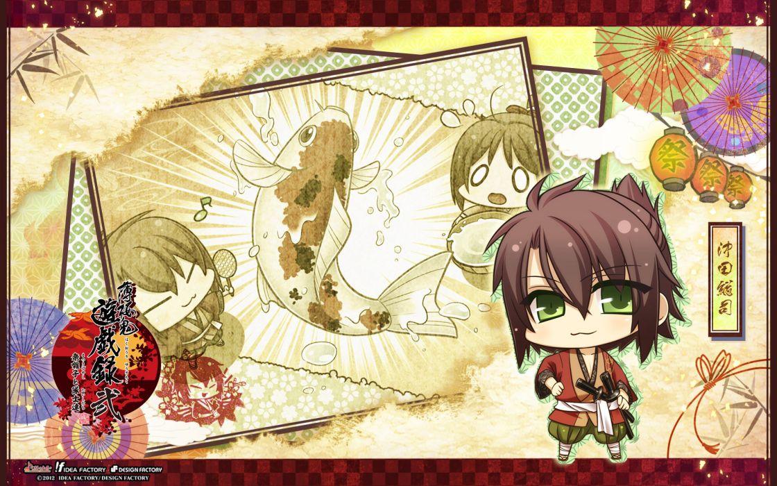 Hakuouki Shinsengumi Kitan Okita Souji chibi wallpaper