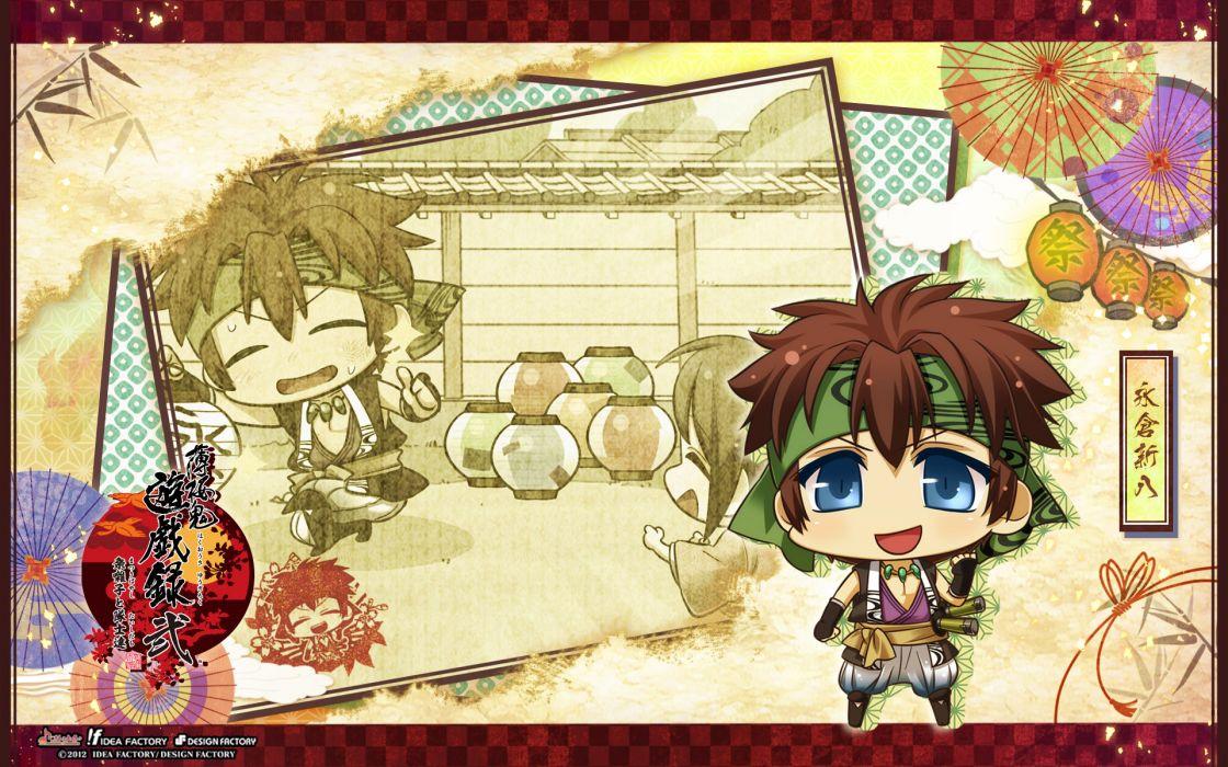Hakuouki Shinsengumi Kitan Shinpachi Nagakura chibi wallpaper