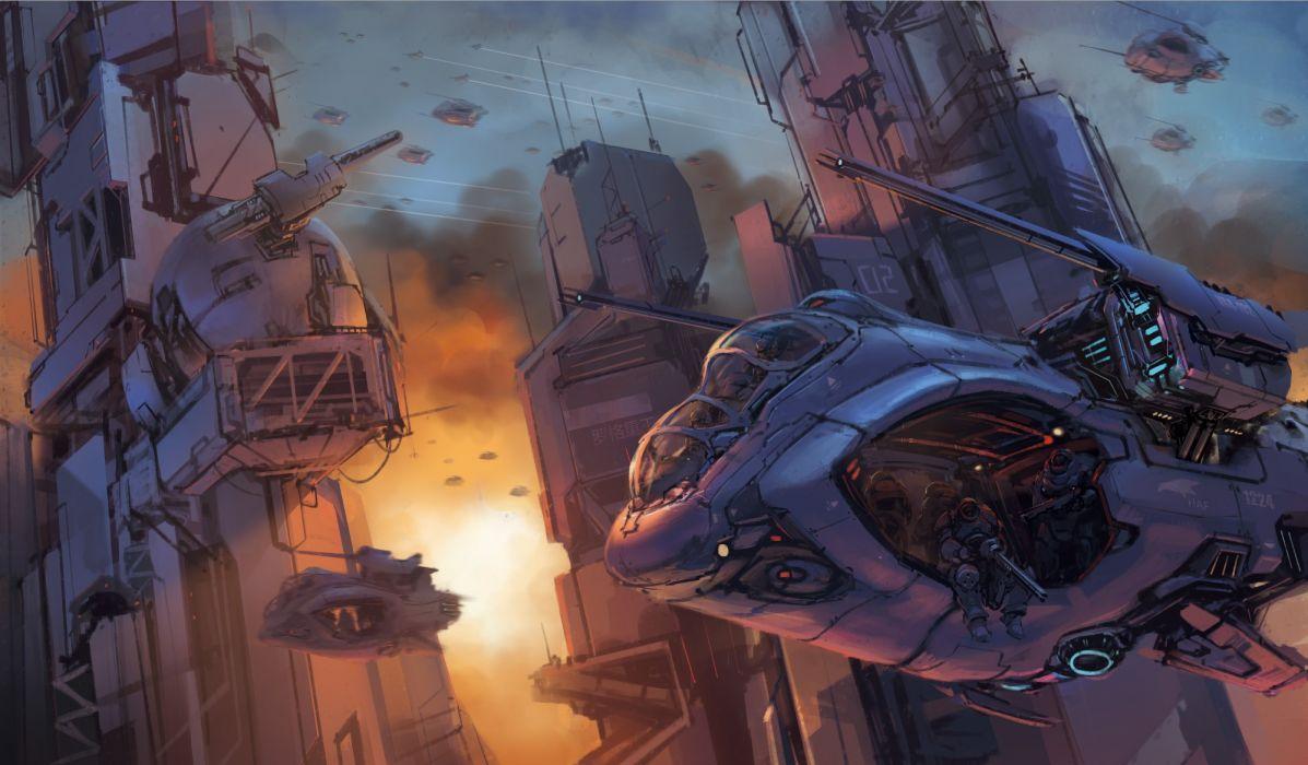 Halo Drawing spaceship wallpaper