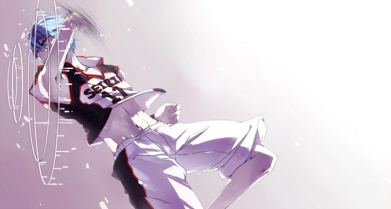 kuroko no basket blue eyes blue hair kuroko no basket kuroko tetsuya male qinnye short hair uniform wallpaper