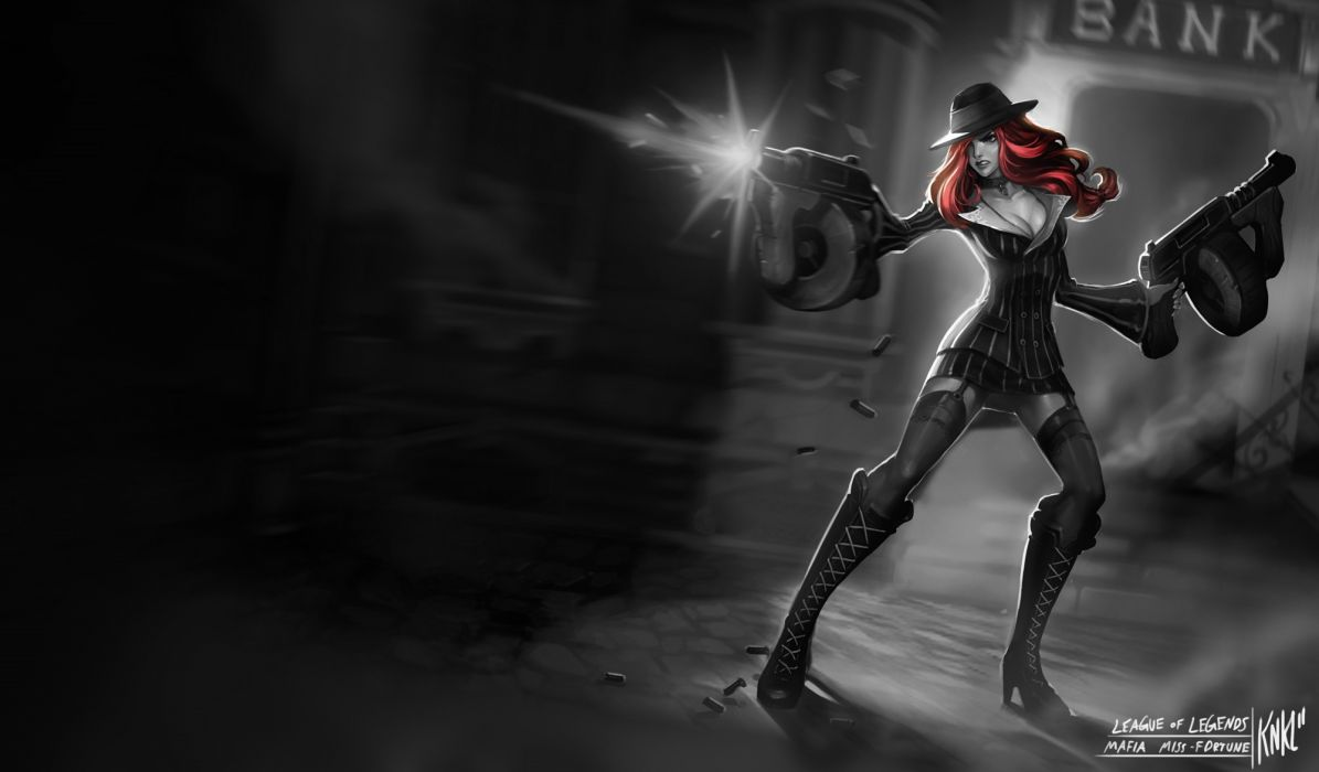 League Of Legends Mafia Miss Fortune Wallpaper 2000x1172