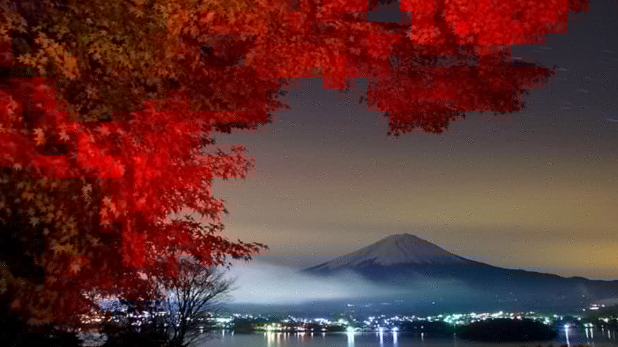 mountains landscapes mount fuji trees Nature Environment wallpaper