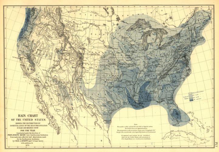 Rain Chart Map United States wallpaper