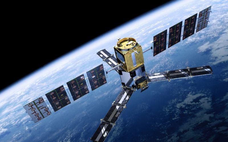 satellite horizon the earth the station wallpaper