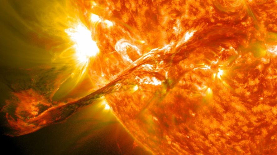 science sun outer space stars solar system ejection Industry wallpaper
