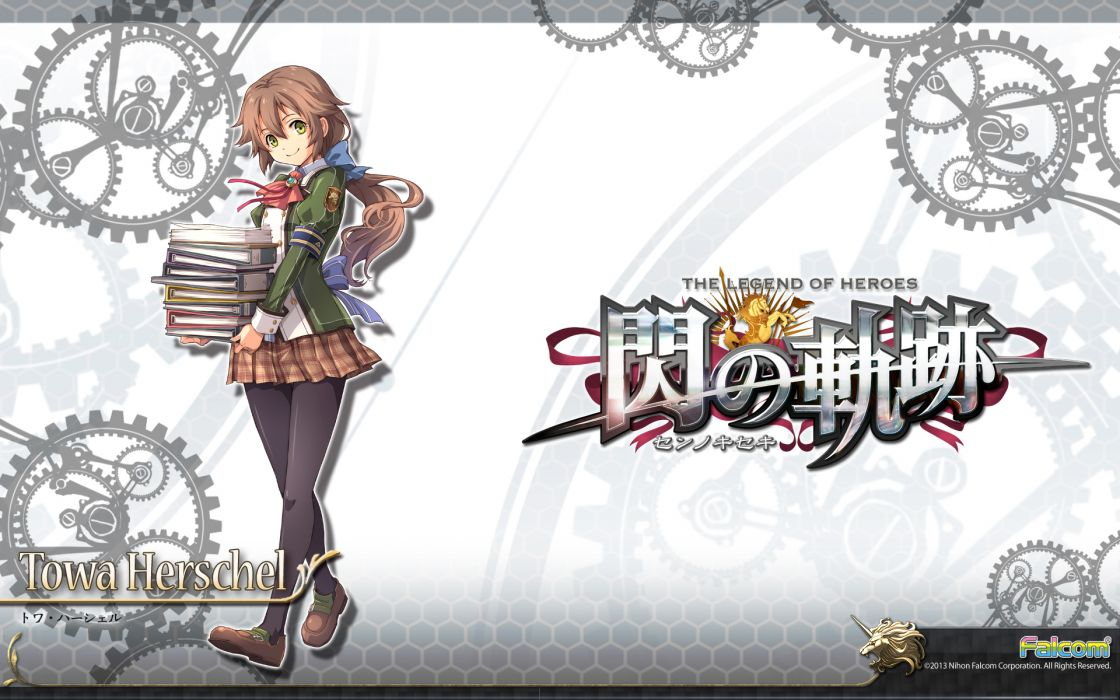 sen no kiseki brown hair falcom green eyes seifuku sen no kiseki towa herschel wallpaper