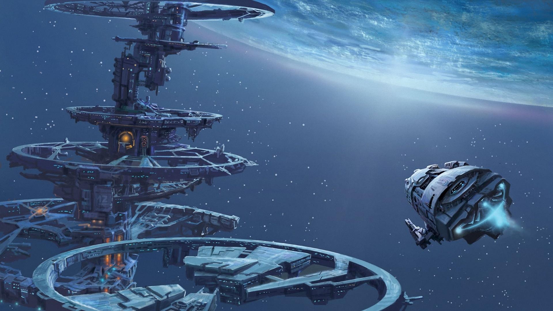 Space planet ship art station wallpaper | 1920x1081 ...