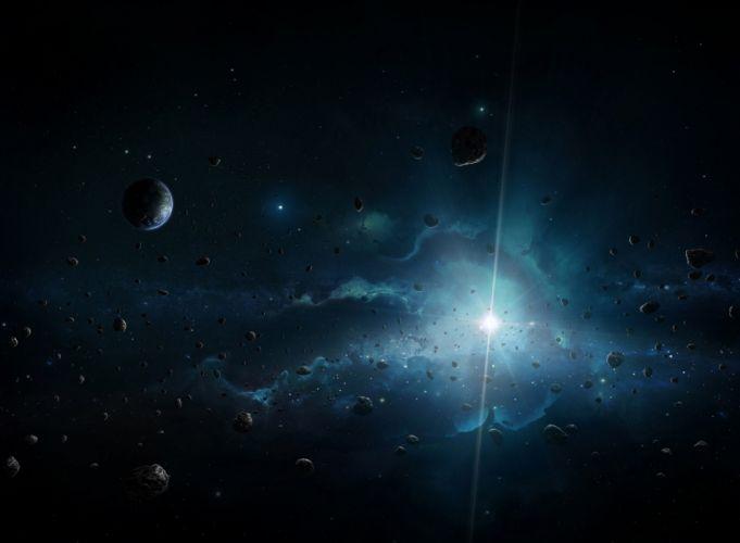 space star planet divine art wallpaper