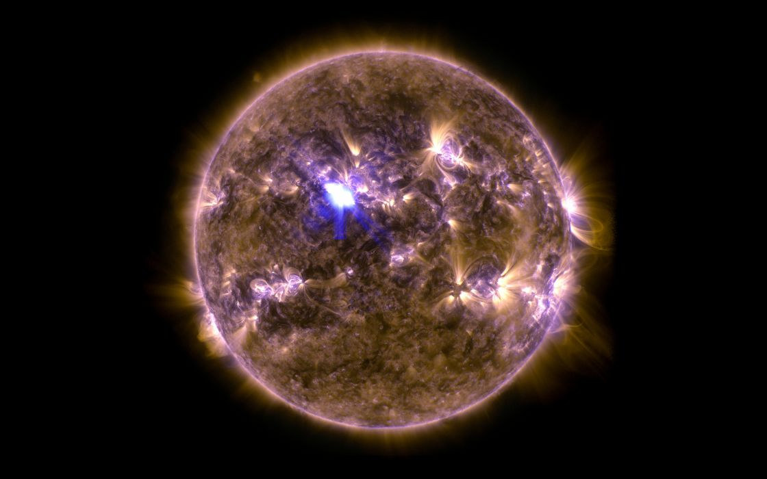 Star Sun Coronal Mass Ejection CME Solar Flare Black wallpaper