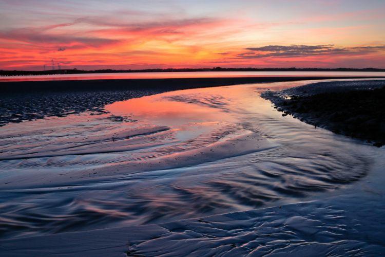 sunset evening jeremy duguid photography beach ocean sea Florida USA wallpaper