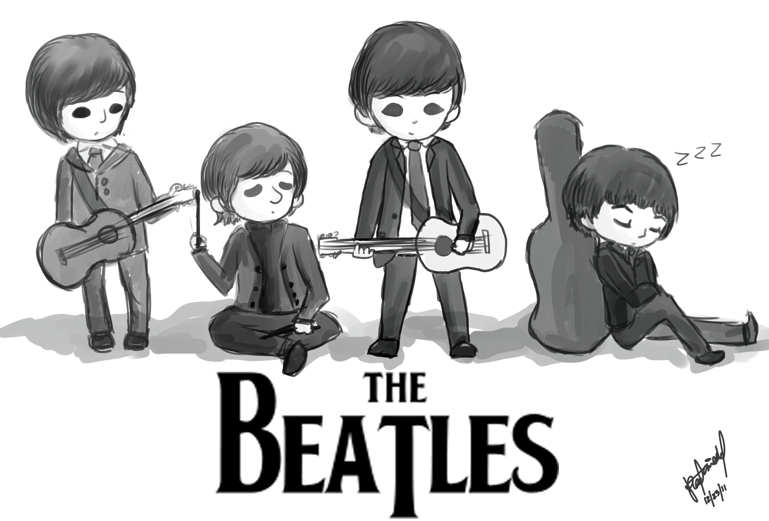 The Beatles Tumblr Background