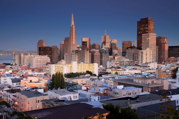 USA Skyscrapers Houses San Francisco Cities wallpaper