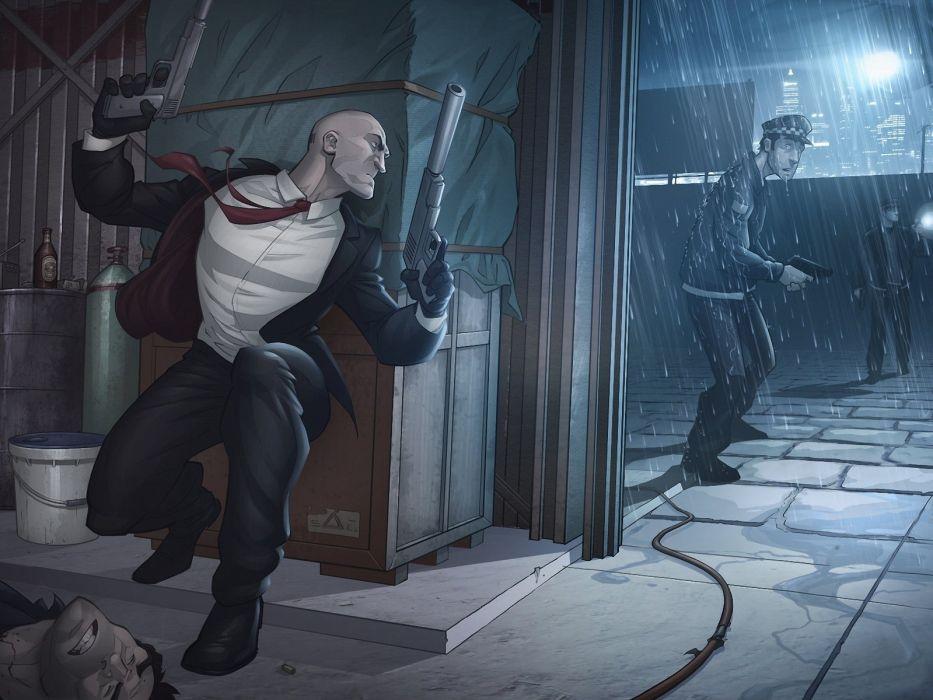 video games fantasy art artwork hitman absolution agent 47 pc games Abstract Fantasy wallpaper