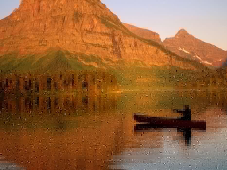 water mountains nature medicine men valley glacier national park canoe fishing wallpaper