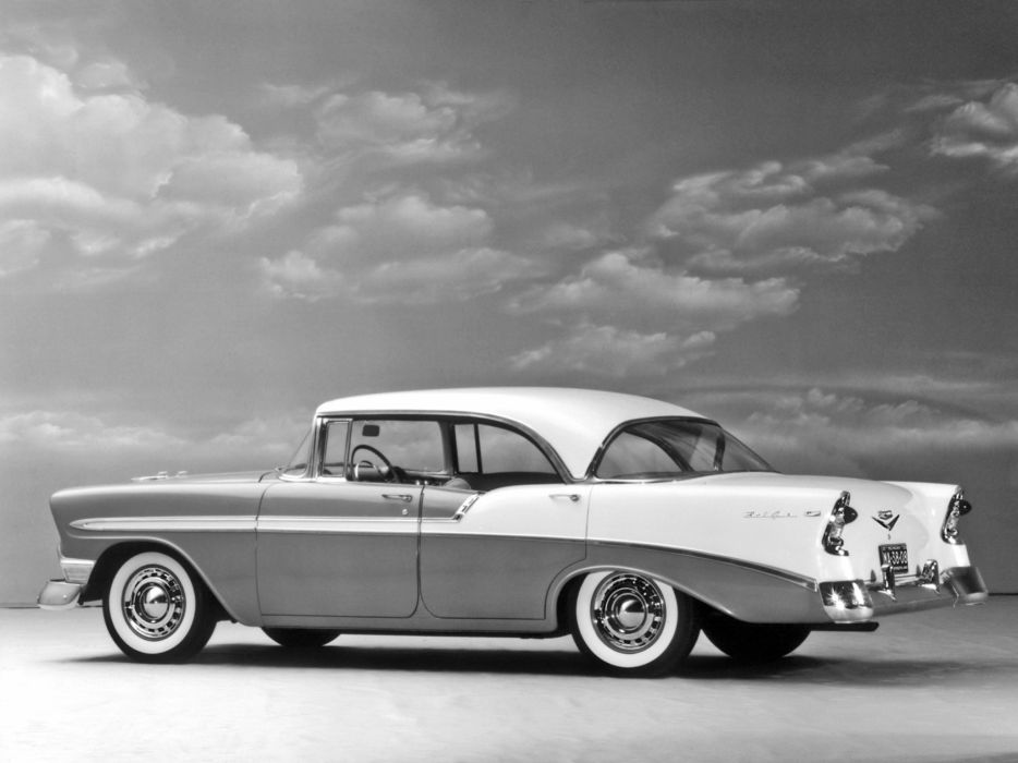 1956 Chevrolet Bel Air Sport Sedan retro wallpaper