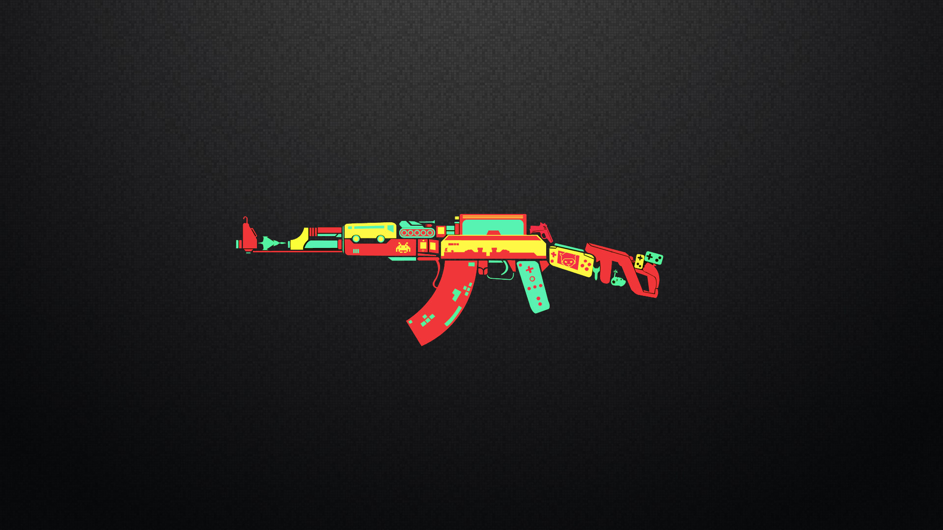 ak 47 controller game weapon funny humor wallpaper