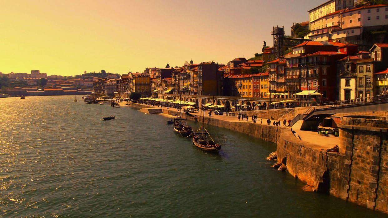 Coast Houses Porto Cities wallpaper