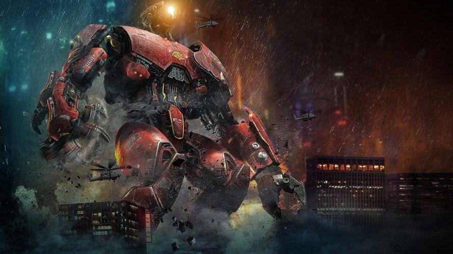 a Pacific Rim Crimson Typhoon Chinese robot mecha sci-fi wallpaper