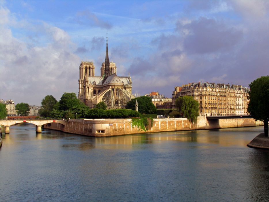 France Rivers Notre Dame de Paris Cities wallpaper