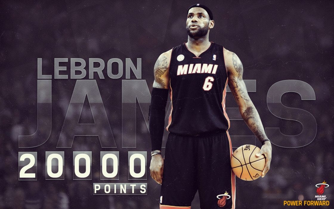 LeBron James NBA Basketball Player Sports Miami Heat Ball Tattoos wallpaper