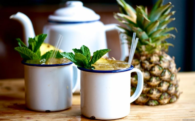 pineapple fruit drink wallpaper