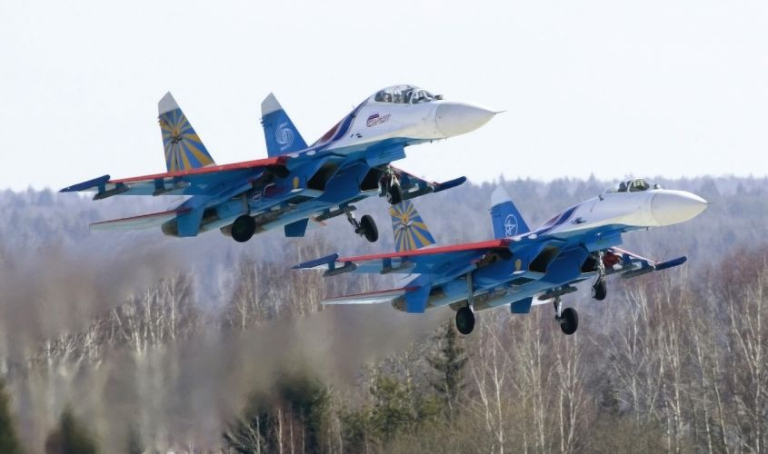 aerobatic team Russian Knights fighter jet jets military wallpaper