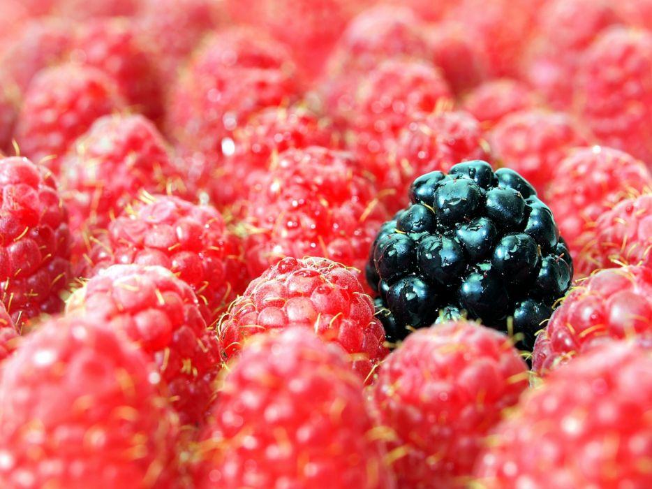 berries raspberries blackberries wallpaper