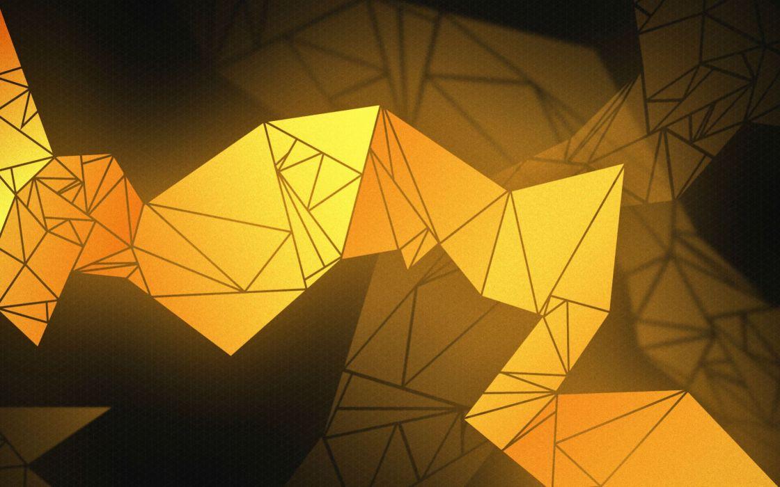 Deus Ex Yellow Abstract Wallpaper