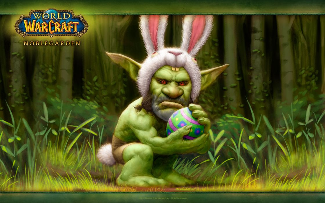 Easter orc rabbit world of warcraft wallpaper