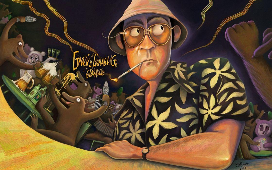 fear and loathing in las vegas psychedelic wallpaper