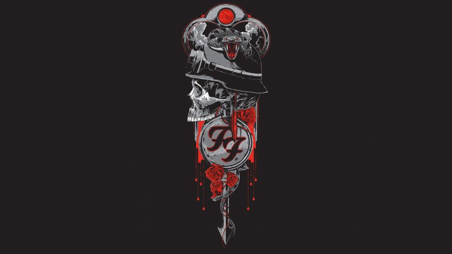 Foo Fighters Skull Abstract Blood dark skulls poster posters wallpaper