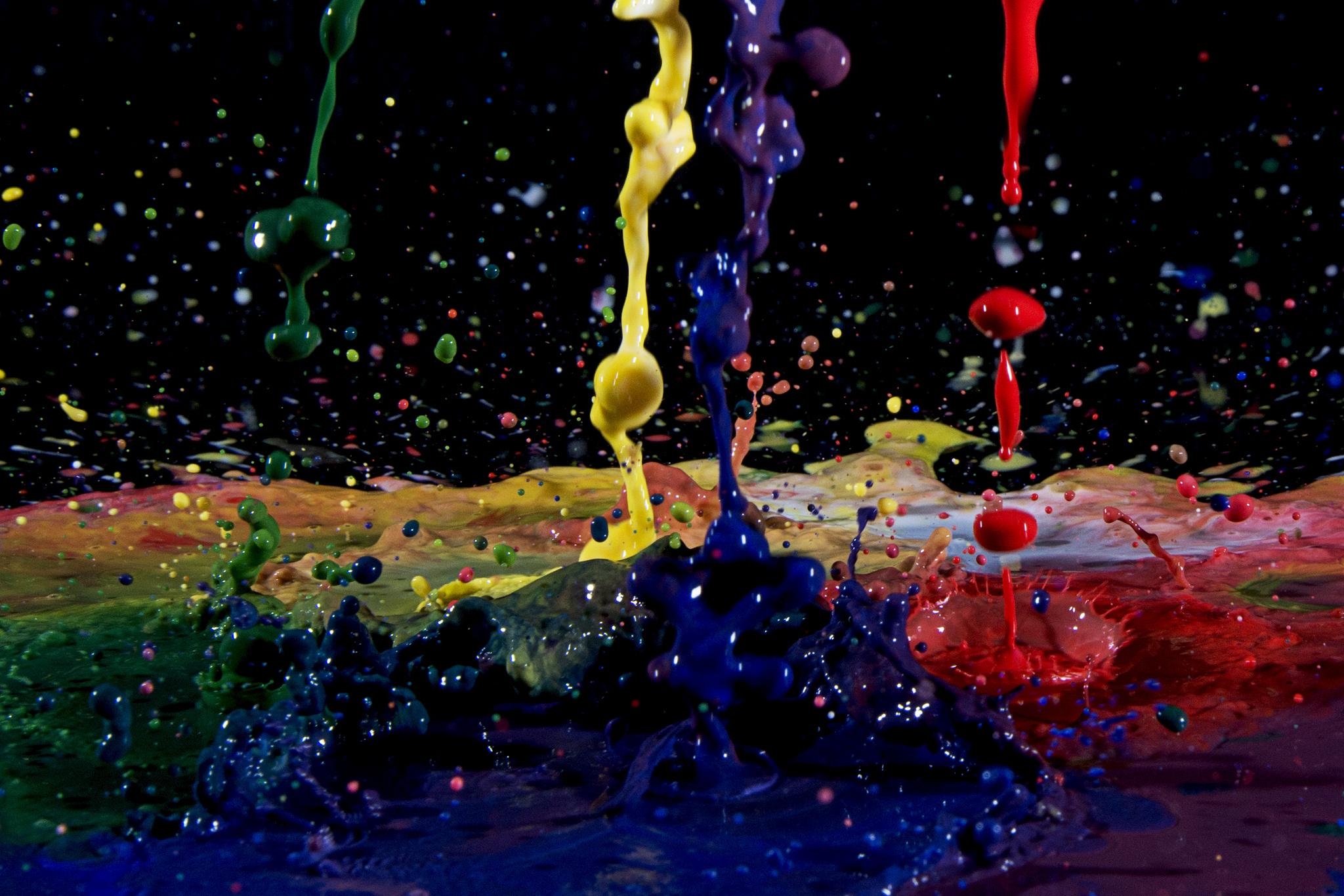 paint drop wallpaper - photo #2