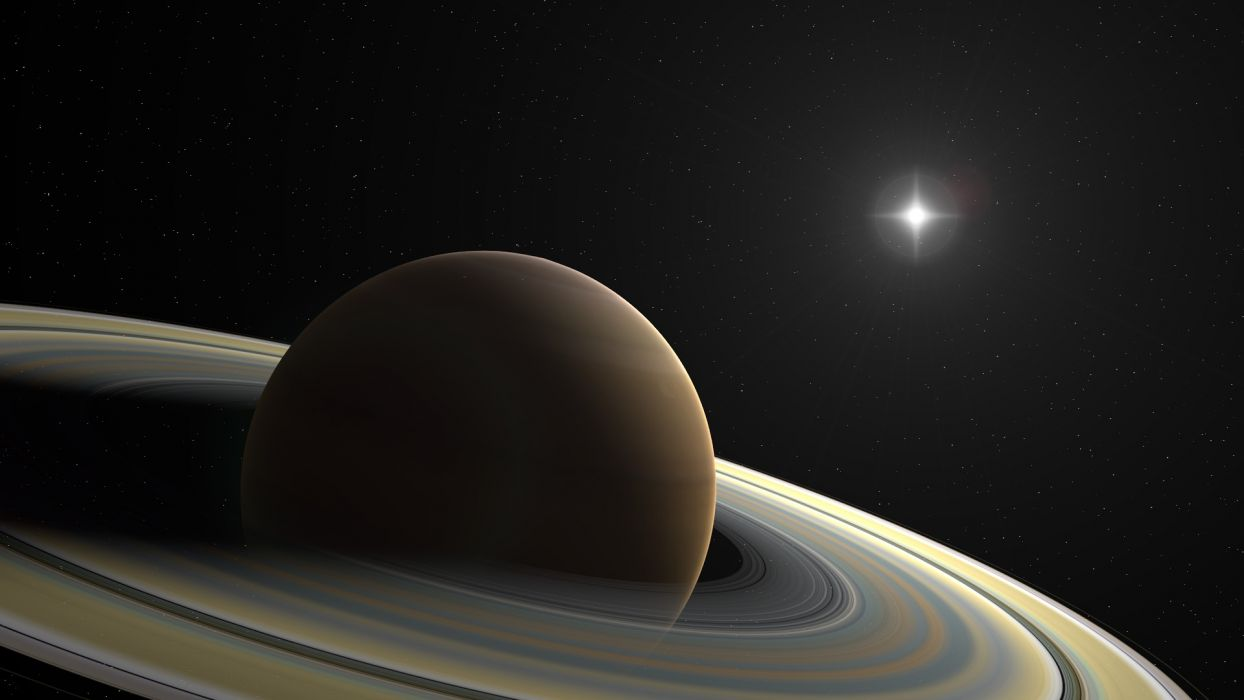 planet Saturn the rings star stars wallpaper