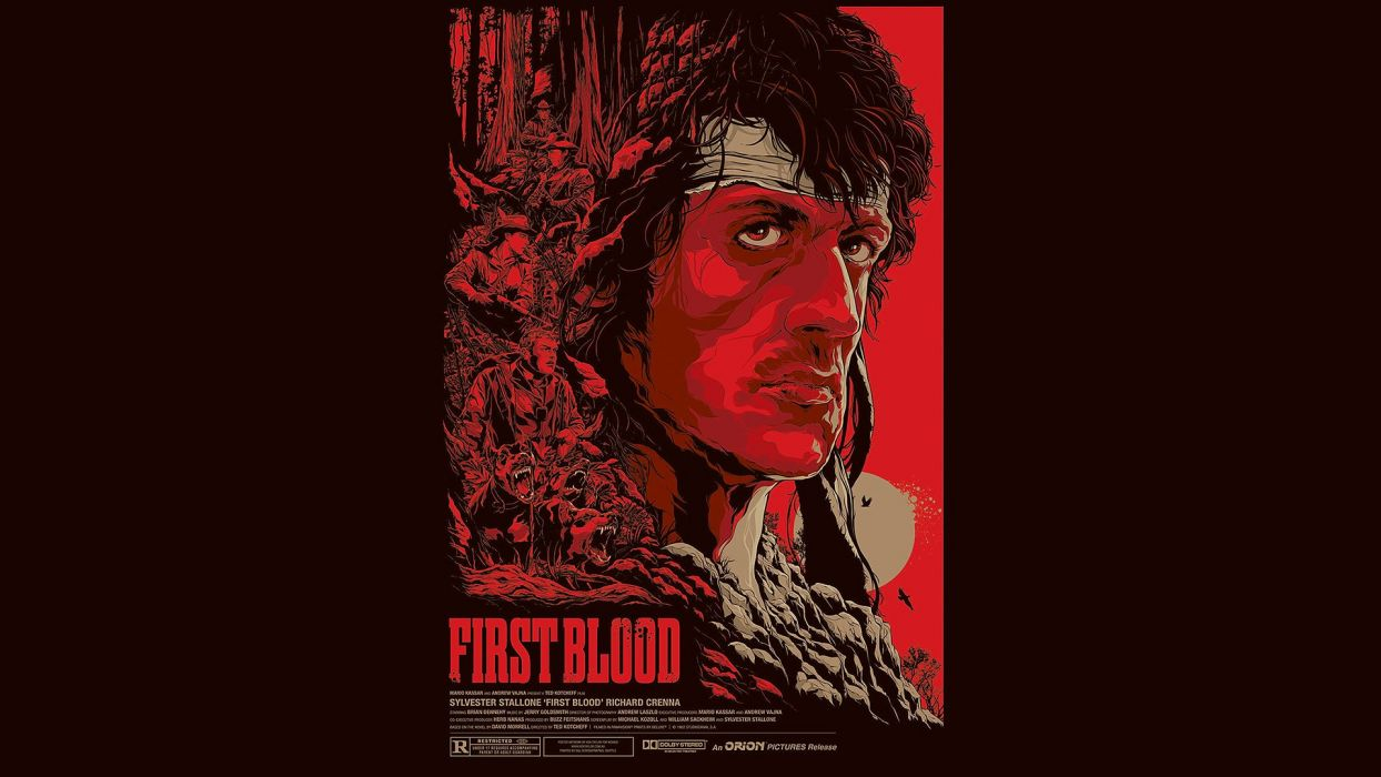 Rambo First Blood Red Sylvester Stallone poster posters wallpaper