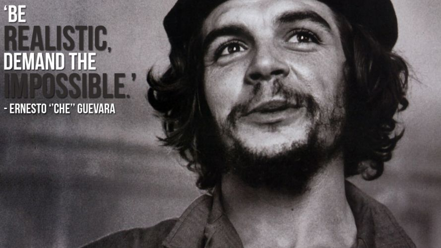 Realistic Impossible B-W Face Che Guevara anarchy wallpaper