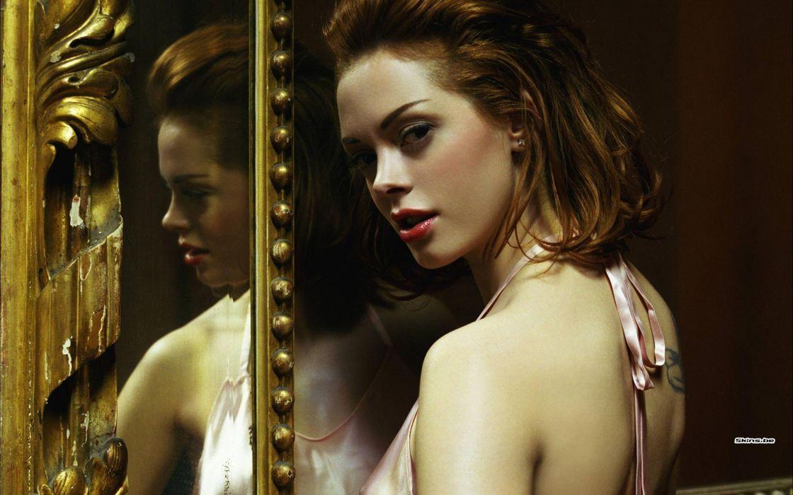 Rose McGowan actress brunette   gw wallpaper