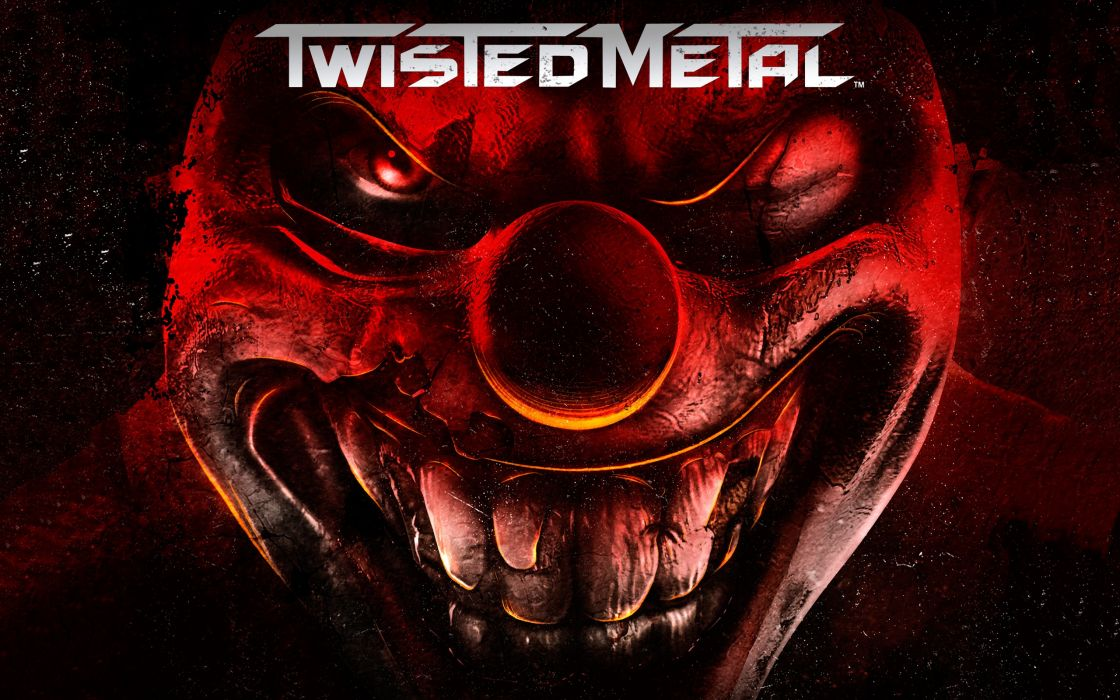 twisted metal dark scary clown wallpaper