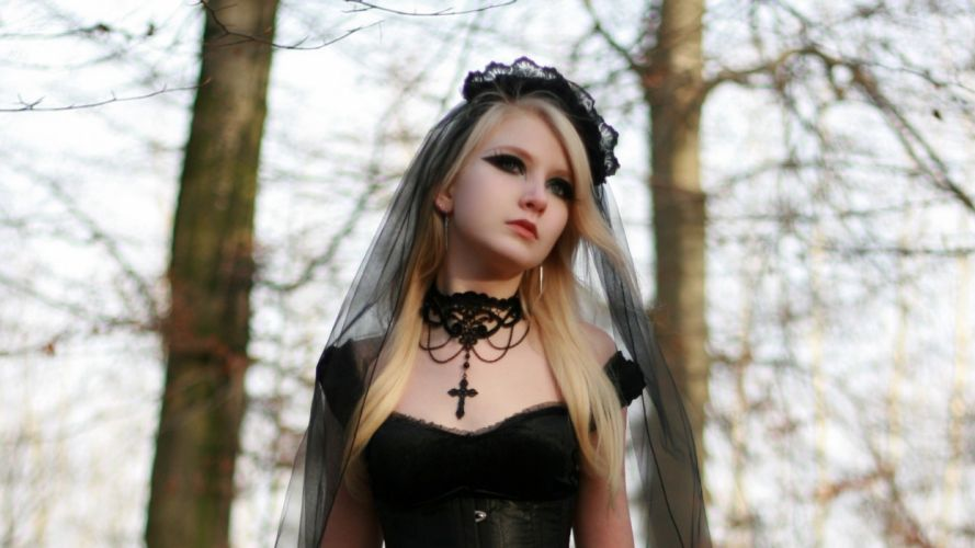 women gothic blonde occult witch wallpaper