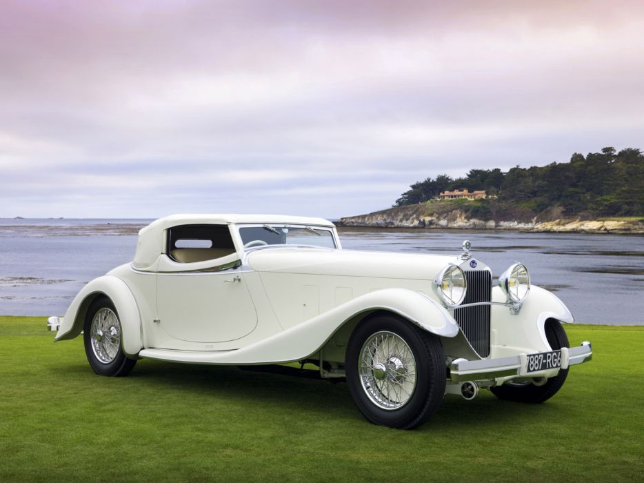 1933 Delage D8S RoadSter retro     g wallpaper