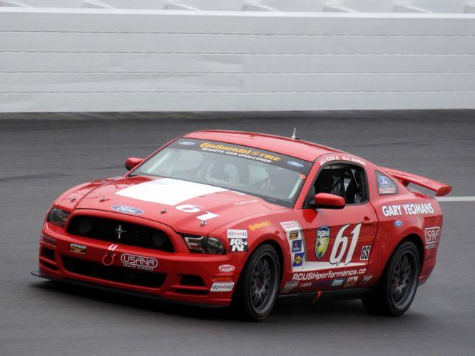 2012 Mustang Boss 302R muscle race racing wallpaper