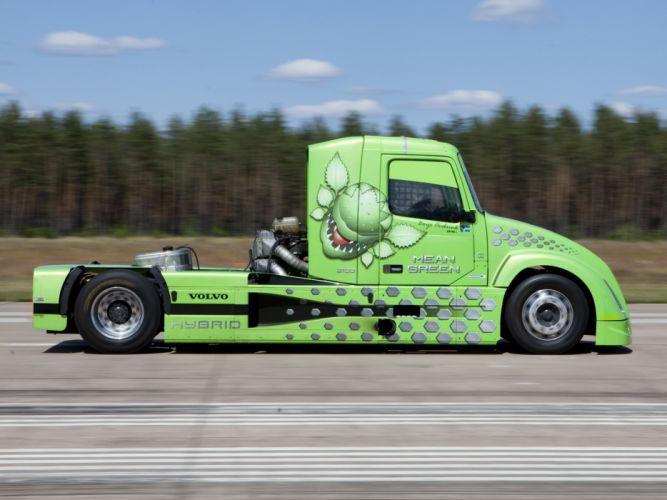 2010 Volvo VNL Mean Green Hybrid truck semi tractor rig rigs wallpaper