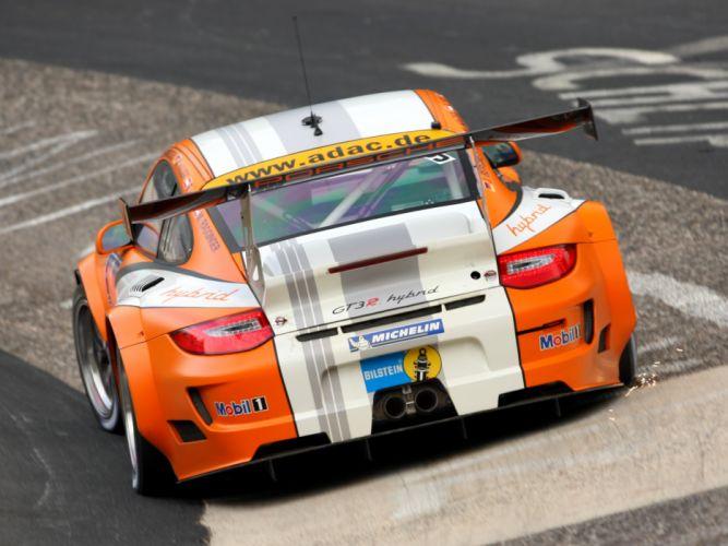 2010 Porsche 911 GT3 R Hybrid 997 race racing supercar supercars f wallpaper