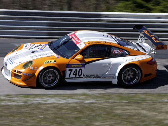 2010 Porsche 911 GT3 R Hybrid 997 race racing supercar supercars g wallpaper